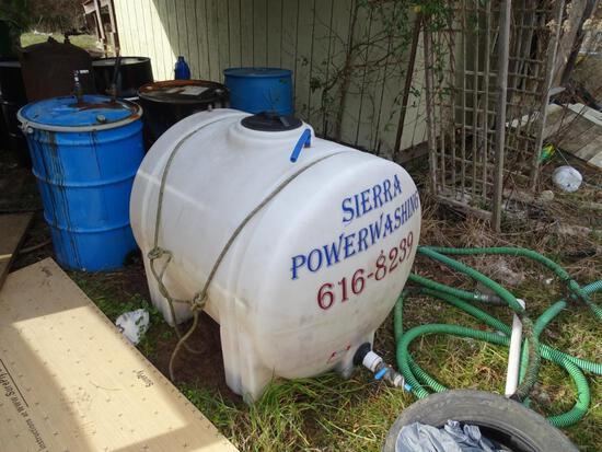 Power washing tank