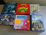 6 Board Games: Quelf, Apples to Apples, Evolution, Mysterium, Carcassonne, Resident Evil (Alliance)