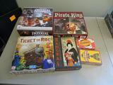 6 Board Games: Imperial Assault, Pirate King, Ticket to Ride, Samurai, Karma, Deer in the Headlights