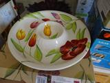 Spring Floral Chip & Dip set-never used! Plus, matching Dip & Mix set-never used.