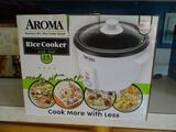 Aroma Rice Cooker-cooks 2-6 cups-never used!