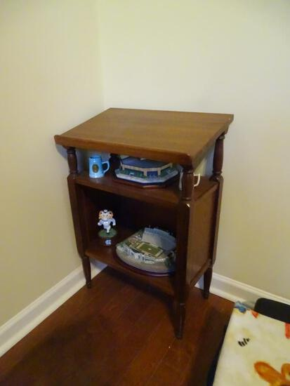 Small wooden curio stand