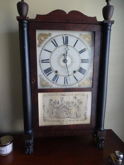 Seth Thomas antique clock-Patent clocks invented by Eli Terry. Made/sold @ Plymouth, Conn.