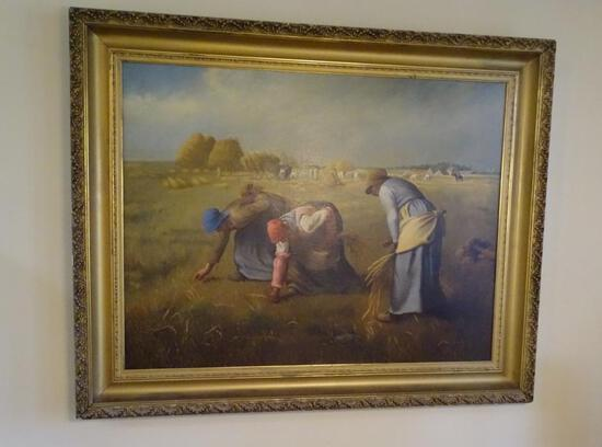 The Gleaners -vintage oil on canvas reproduction of original by Jean Francois Millet