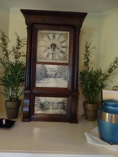 Antique Eight Day Brass Clock, Forestville Mfg. Co., Bristol Conn. ~1917