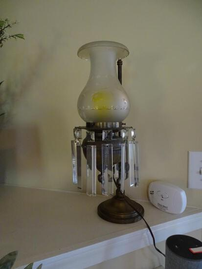 Antique lamp from Herndon/Hunt mansion in Oxford, NC, formerly on Main/Spring St.,