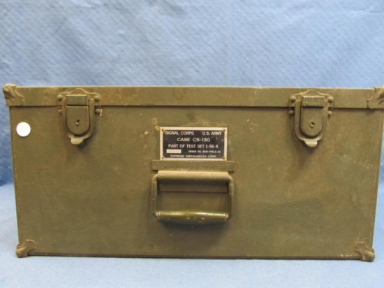 WWII Signal Corps US Army Case CS 130 - Part of Test Set I