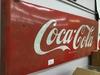 tin coca cola pop sign