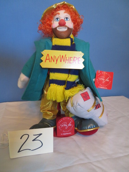RON LEE BY APPLAUSE CLOWN DOLL
