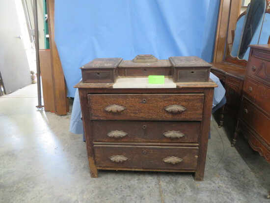 ANTIQUE DRESSER W/ MARBLE