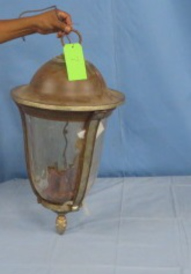 LIGHT FIXTURE METAL & GLASS  26 X 15