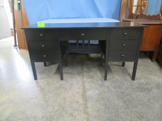MODERN BLACK DESK W/ 7 DRAWERS