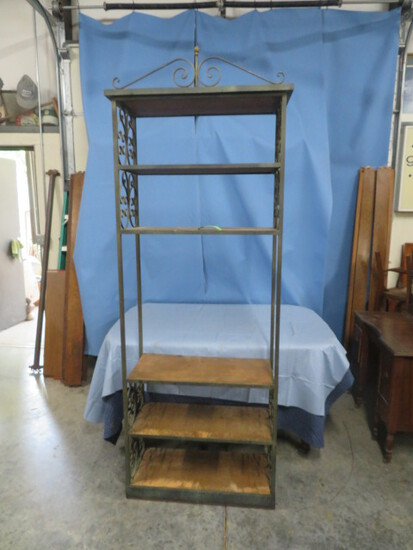 TALL VINTAGE WROUGHT IRON STAND