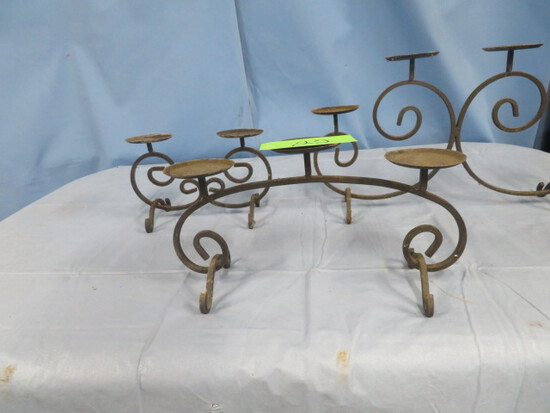 3 METAL CANDLE HOLDERS