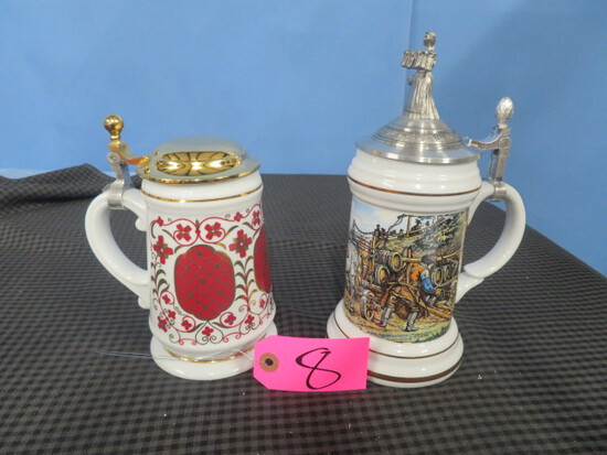 2 GERMAN STEINS- NO MARKINGS