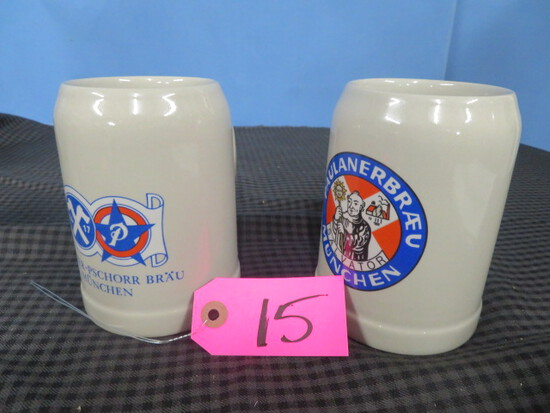 2 GERMAN MUGS .51 GERZ