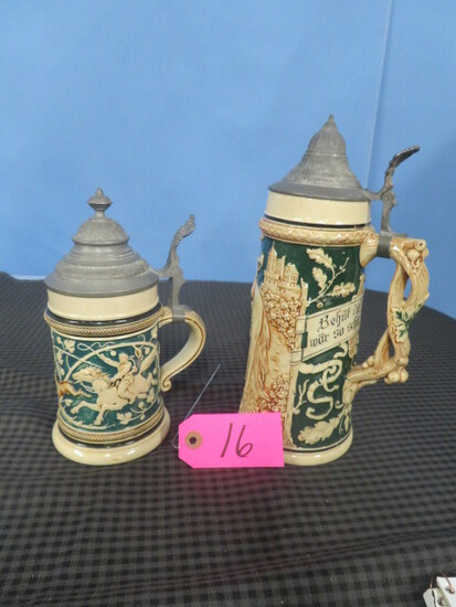 2 GERMAN STEINS- # 1181 & 1023