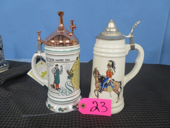 2 STEINS- 1- #427 LIMITED EDITION PURITY LAW 2- REVOLUTIONARY WAR
