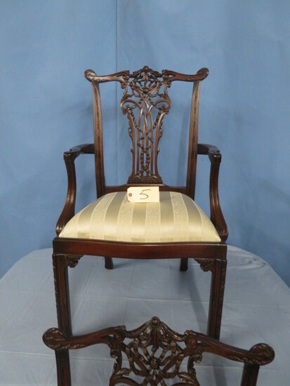 PAIR OF NICE CAPTAIN DINING CHAIRS