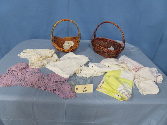 VINTAGE LINENS AND BABY CLOTHING