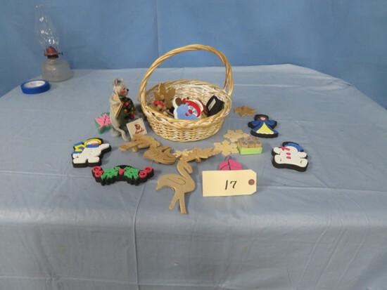 BASKET OF CHILDREN'S ITEMS- KIDS CRAFTS