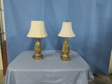 PAIR OF CAPODIMONTE TABLE LAMPS