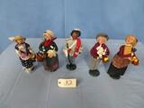 5- BYERS CHOICE CHRISTMAS CAROLERS