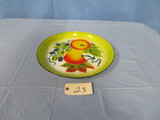 ROUND  HAND PAINTED TOLEWARE TRAY  18