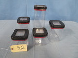 5 PCS. T FAL STORAGE CONTAINERS
