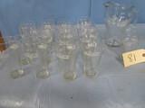 18 PCS. COCA COLA PITCHER & GLASSES