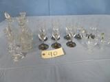 MIXED LOT OF STEMWARE- WINE & SHOT GLASSES