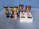 6 PCS. BOBBLE HEADS OF NOTABLE CHARACTERS
