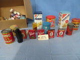 LARGE AMOUNT OF OLD ADVERTISING TINS & SPICE TINS
