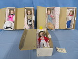 5 SHIRLEY TEMPLE DOLLS- NEW IN BOX