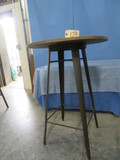 BISTRO TABLE W/ METAL LEGS & WOOD TOP- NO CHAIRS  42