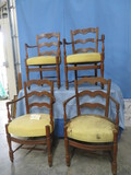 4 ANTIQUE CHAIRS- NEED RE-UPHOLSTERING