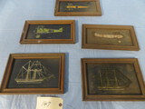 5 PC. METAL SHIPS, AIRPLANES