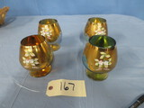 GOLD OVERLAY WINE GLASSES