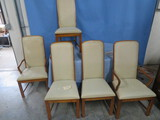 2 CAPTAINS CHAIRS & 3 SIDE CHAIRS