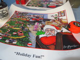 2 SAM BASS HOLIDAY SIGNED PRINTS 40 & 41/250  SIZE 22 X 19
