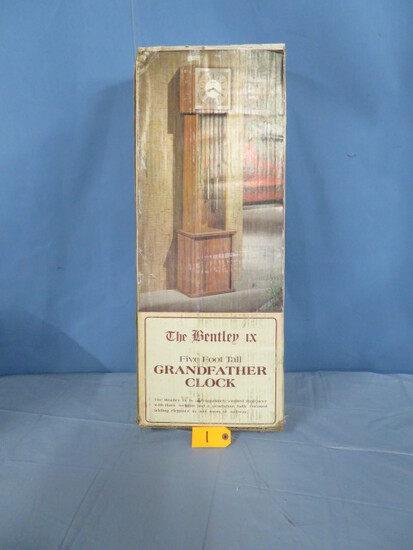 5 FT. BENTLEY GRANDFATHER CLOCK STILL IN BOX