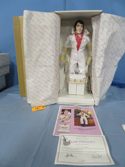 "18"" ELVIS PRESLEY 1987 DOLL BY THE DANBURY MINT NEW IN BOX"