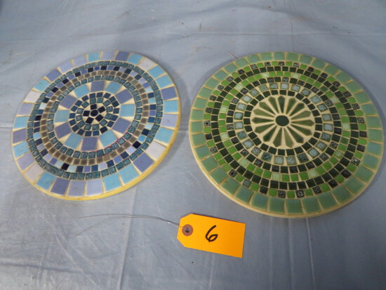 DECORATIVE TILE LAZY SUSAN PCS