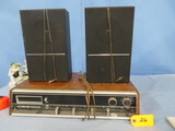 FOUR STAR SOLID STAT 8 TRACK PLAYER & 2 SPEAKERS