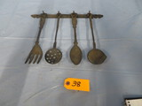 CAST IRON WALL HANGING SPOONS