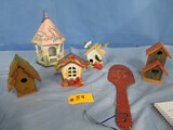 SMALL BIRD HOUSES & DUCK PC