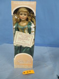 ASHLEY BELLE PORCELAIN KEEPSAKES DOLL LIMITED EDITION IN BOX
