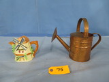 COPPER WATERING CAN & SMALL TEAPOT