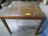 ORIENTAL TABLE W/ GLASS TOP PC 33