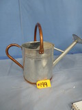 METAL WATERING CAN W/ COPPER HANDLE  15